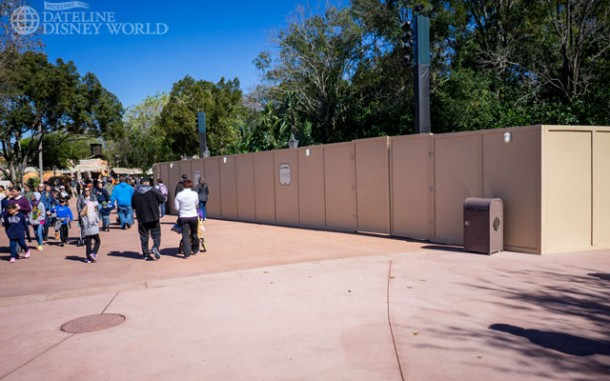 Walls up at the Biergarden area more than likely for Flower and Garden kitchens.