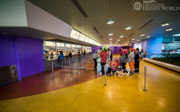 You know it is busy when Tomorrowland Terrace is open for business.