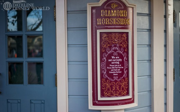 With the park super crowded, it's a surprise Diamond Horseshoe wasn't open.