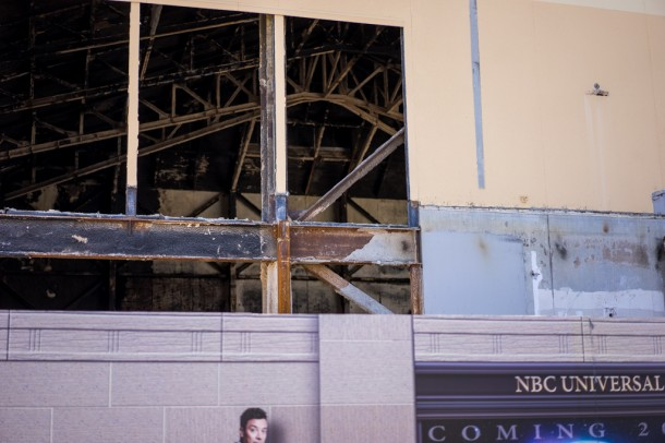 The inside of the old Twister building has been completely gutted to prepare for Jimmy Fallon's arrival.