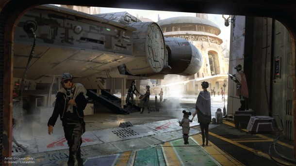 Disney has released some concept art for Star Wars Land!