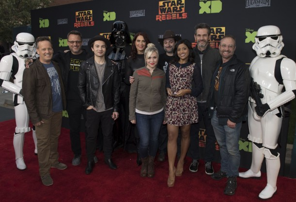 STORMTROOPER, DEE BRADLEY BAKER, STEVE BLUM, TAYLOR GRAY, DARTH VADER, VANESSA MARSHALL, ASHLEY ECKSTEIN, DAVE FILONI (EXECUTIVE PRODUCER), TIYA SIRCAR, SIMON KINBERG (EXECUTIVE PRODUCER), HENRY GILROY, STORMTROOPER