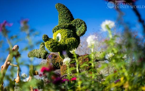 Fantasia topiaries near Imagination.