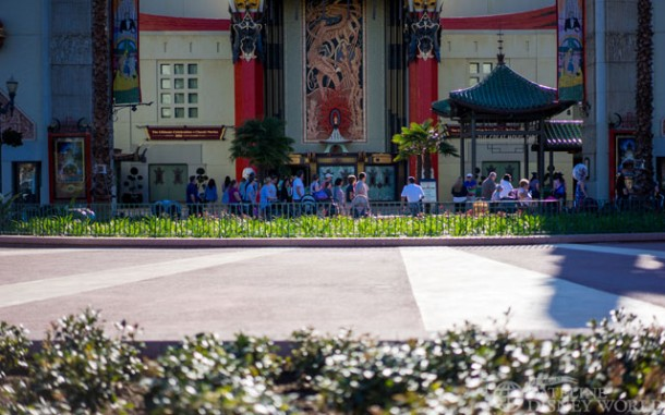 No stage currently at the Chinese Theater.