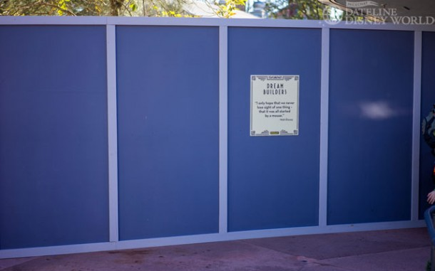 Walls still up near Path of the Jedi, probably for a Star Wars meet and greet area.