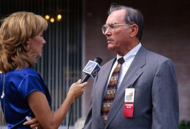 Charlie Ridgway is interviewed during the Walt Disney World 25th anniversary celebration
