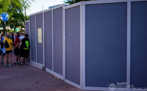 Walls still up near the Path of the Jedi theater.