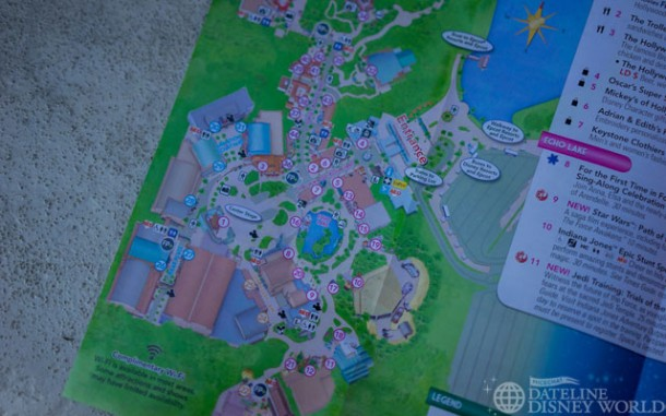 The new park map eliminates the whole Backlot/Streets of America area.