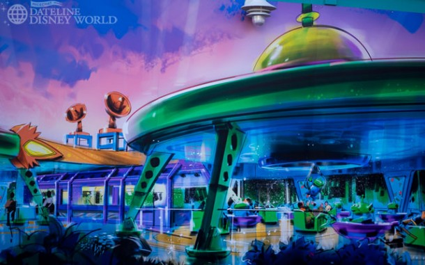 New Toy Story Land concept art on the walls!