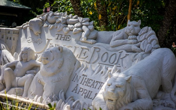 There is a Jungle Book sand sculpture right at the entrance as well.