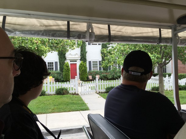 The view from our vehicle of a house from Pretty Little Liars, Gilmore Girls and several other shows.