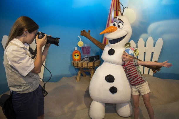 "Olaf from ""Frozen"" Greets Guests at Disney's Hollywood Studios"