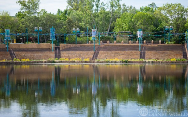 Rivers of Light seating area looks complete.