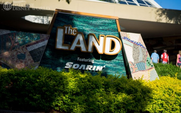 The Land has received its new sign now that Soarin' is back up and running.