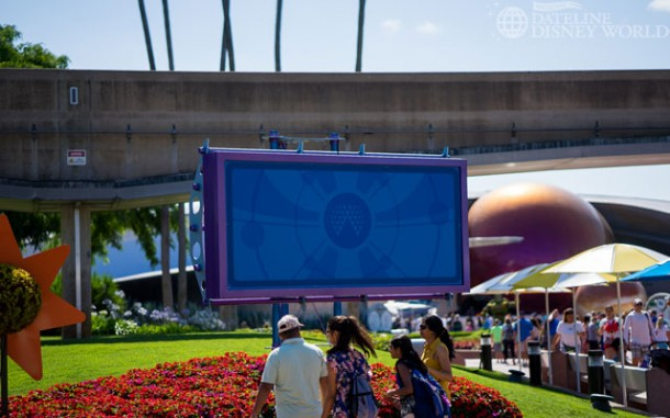 The tip board has been removed from the Test Track side of the park as well.