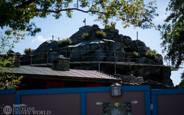 Construction continues on the Frozen meet and greet area in Norway.