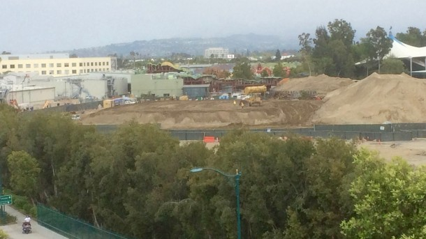 As the dirt moves around the area, is the beginning of a pad for one of the show buildings?