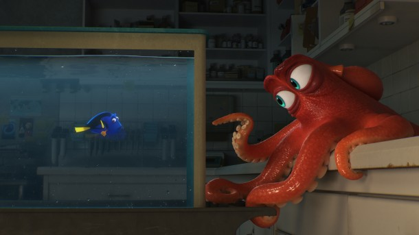 "DO I KNOW YOU? -- In Disney?Pixar's ""Finding Dory,"" everyone's favorite forgetful blue tang, Dory (voice of Ellen DeGeneres), encounters an array of new?and old?acquaintances, including a cantankerous octopus named Hank (voice of Ed O'Neill). Directed by Andrew Stanton (?Finding Nemo,? ?WALLE?) and produced by Lindsey Collins (co-producer WALL-E), Finding Dory swims into theaters June 17, 2016."