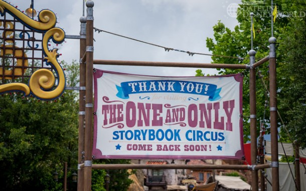 These signs in Storybook Circus are really faded compared to when this area first opened.
