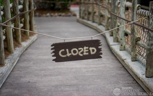 Tom Sawyer Island was closed, I believe to incoming weather.