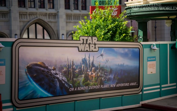 Star Wars sign also blocking the way near the Writer's Stop and Sci-Fi Dine In.