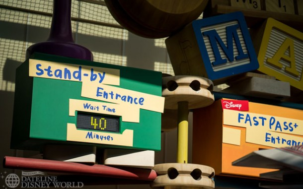 A third track has been added to Toy Story Mania, and it seems to be helping with the wait times. The queue also did not extend out into Pixar Place.