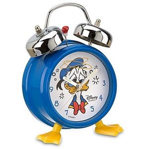 Donald Duck Two Bell Alarm Clock with Feet