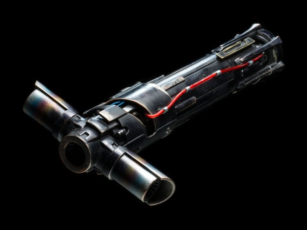 Kylo Ren Lightsaber Hilt Pricing: $1,250 Own a piece of the epic saga with our exclusive, made-to-order replica of Kylo Ren's Lightsaber Hilt from Star Wars: The Force Awakens.  Precisely detailed in every way, the unique crossguard design appears virtually identical to the prop used in the film.