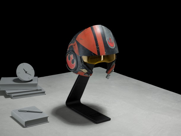 Poe Dameron X-Wing Helmet Pricing: $1,500 Own a piece of the epic saga with our exclusive, made-to-order replica of Poe Dameron's Helmet from Star Wars: The Force Awakens. This iconic piece is precisely detailed in every way and appears virtually identical to the prop worn by the actor playing the ace pilot of the Resistance.