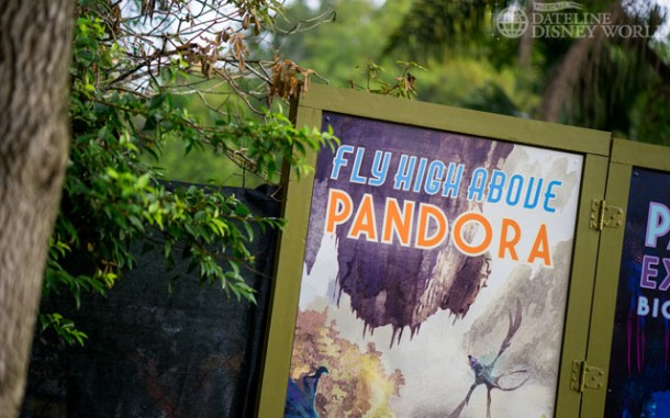 There are a bunch of new Pandora advertisements on the construction walls.