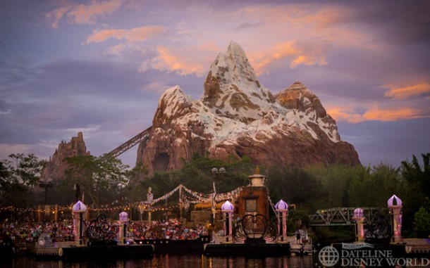 The Jungle Book show is also taking place multiple times a night on the water near Everest.