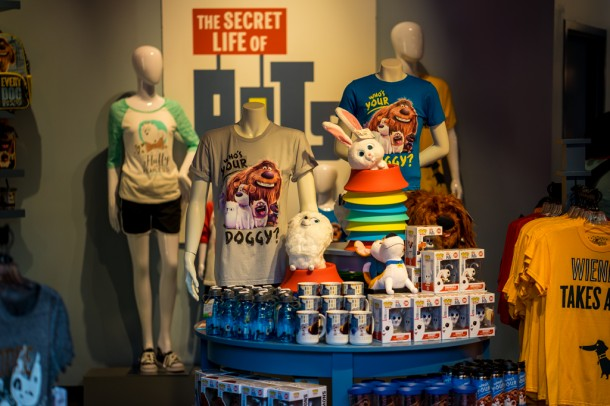 There is an entire gift shop in Toon Lagoon that has changed to sell Pets merchandise.