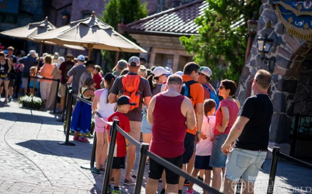 The lines seemed to have calmed down a tiny bit for Frozen Ever After.
