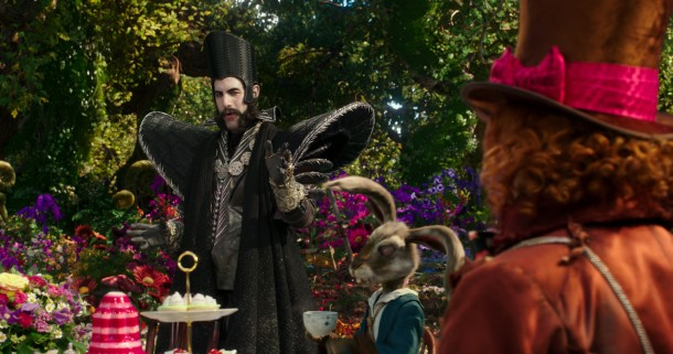 Sacha Baron Cohen is Time in Fab's favorite scene in Disney's ALICE THROUGH THE LOOKING GLASS