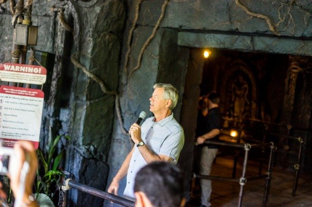 Mike West was there to talk about the attraction!