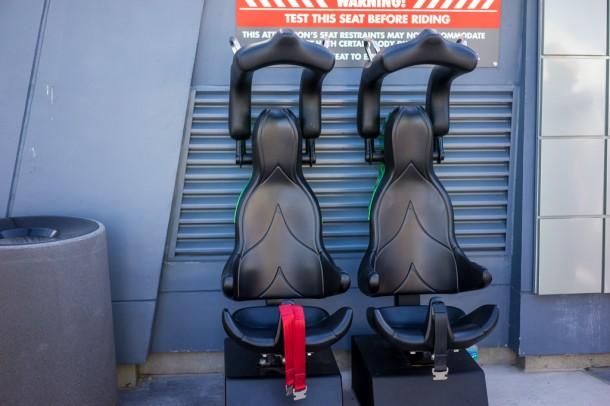 Test seats outside the entrance.