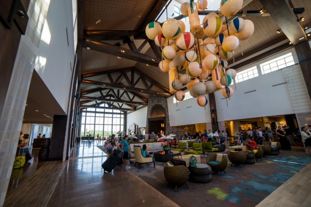 Next, we went over for a tour of Sapphire Falls, the newest on site hotel at Universal Orlando.