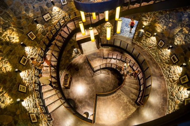 This giant spiral staircase is awesome.