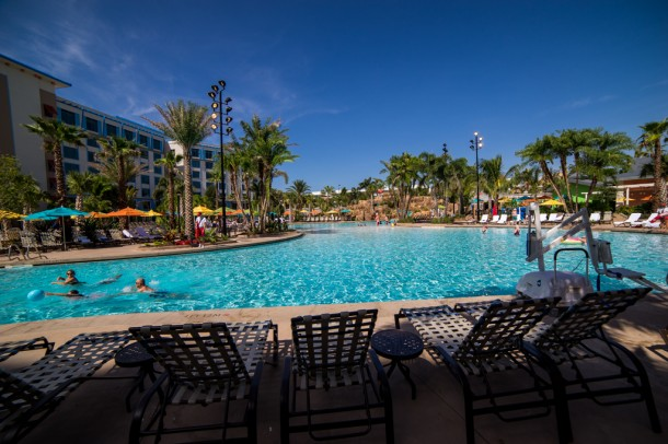 The pool is the largest on Universal property.