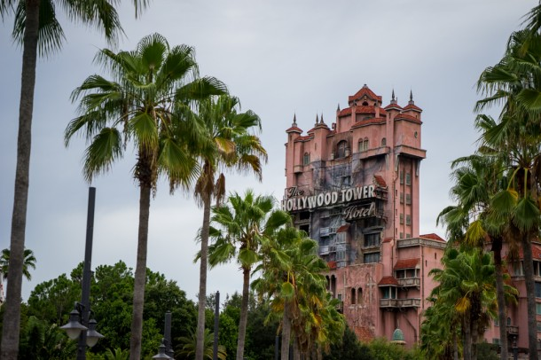 Tower of Terror looks its best on gloomy days, and when it isn't being retimed to Guardians of the Galaxy like out at DCA.