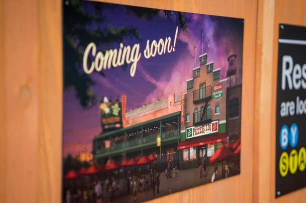 We finally got confirmation recently on the old Pizza Planet location becoming Pizzerizzo, a Muppet themed eatery.
