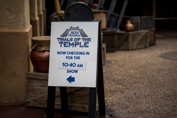 Jedi Training check-in is now located on the far side of Indiana Jones.