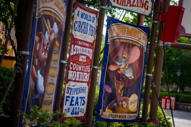 A while back, we commented on how gross and old looking the banners at Storybook Circus were.