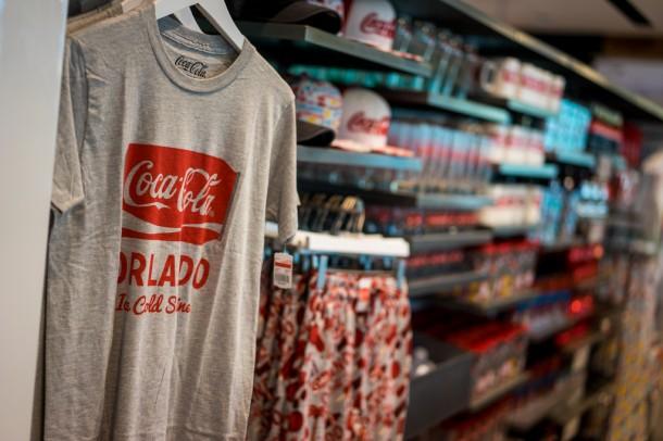 Tons of Coke merchandise everywhere.