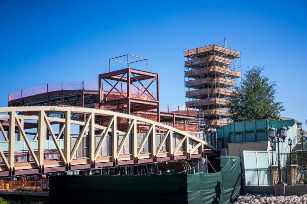 Construction continues on the Edison.