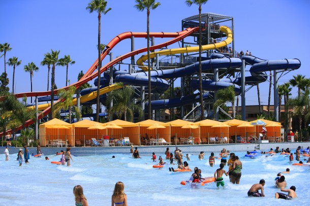 Knott's Soak City Wave Pool and Speed Slides