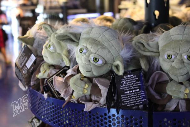 Yoda plushes @ Star Trader