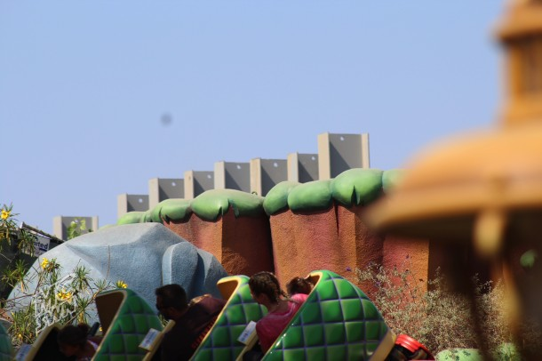 The top of the I-Beams as seen from Toontown.