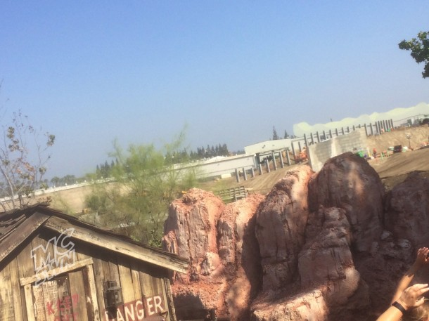 From Big Thunder Mountain, a view of the north I-beams.
