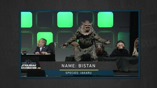 "Later on ""The Star Wars Show"", the Lucasfilm Story Group revealed his name: Bistan."